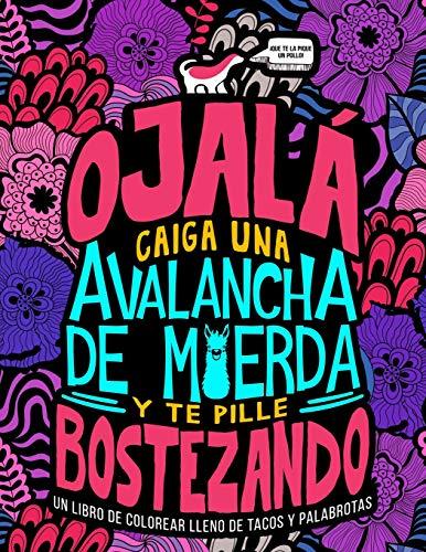 Un libro de colorear lleno de tacos y palabrotas: Ojalá caiga una avalancha de m*erda y te pille bostezando