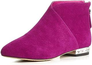 Nine Seven Women's Leather PointToe Flat Heelie