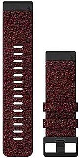 Cinturino per orologio Garmin QuickFit 26, in nylon rosso mélange