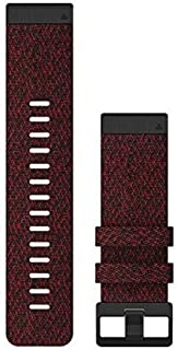 Garmin QuickFit 26 Watch Strap Nylon Rouge QuickFit 26, Watch Strap, Nylon, Rouge, 26 mm
