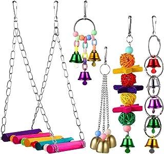DealMux Budgie Toys Accessoires voor vogelkooien, speelgoed voor papegaaien, vogelspeelgoed, speelgoed voor vogels, speelg...