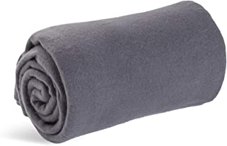 World's Best Cozy-Soft Microfleece Travel Blanket, 50 x 60 Inch, Charcoal, Great for Travel or Lounging at Home