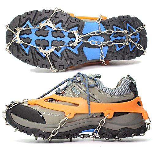 LYLbz silicone Chaînes à neige grödel Crampons crampons de chaussures de griffes – 10 dents en acier inoxydable Crampons crampons antidérapants pour High Altitude Randonnée à neige