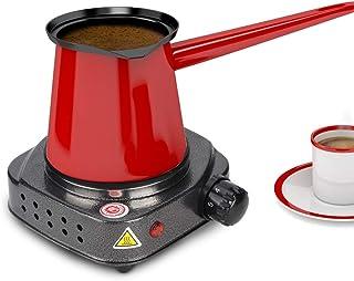 Estufa eléctrica, Horno eléctrico de aleación multifunción, Quemador de placa de calentamiento de hierro fundido plano eléctrico con control de temperatura para olla caliente/sopa/café