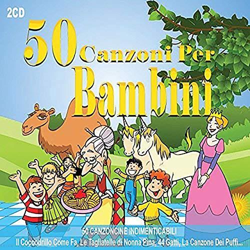 2 CD 50 Canzoni Per Bambini, Canzoni Indimenticabili, Il coccodrillo Come Fa?, le Tagliatelle di Nonna Pina, La Canzone Dei Puffi,Canzoncine, Las canciones más bellas para niños en italiano