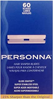 Personna Hair Shaper Blades, 60 Count