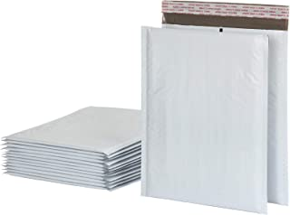 Quality Park Bubble Mailers, 8.25 x 11 Shipping Envelopes, Water Resistant White Poly Padded Envelopes, Redi-Strip Peel Of...