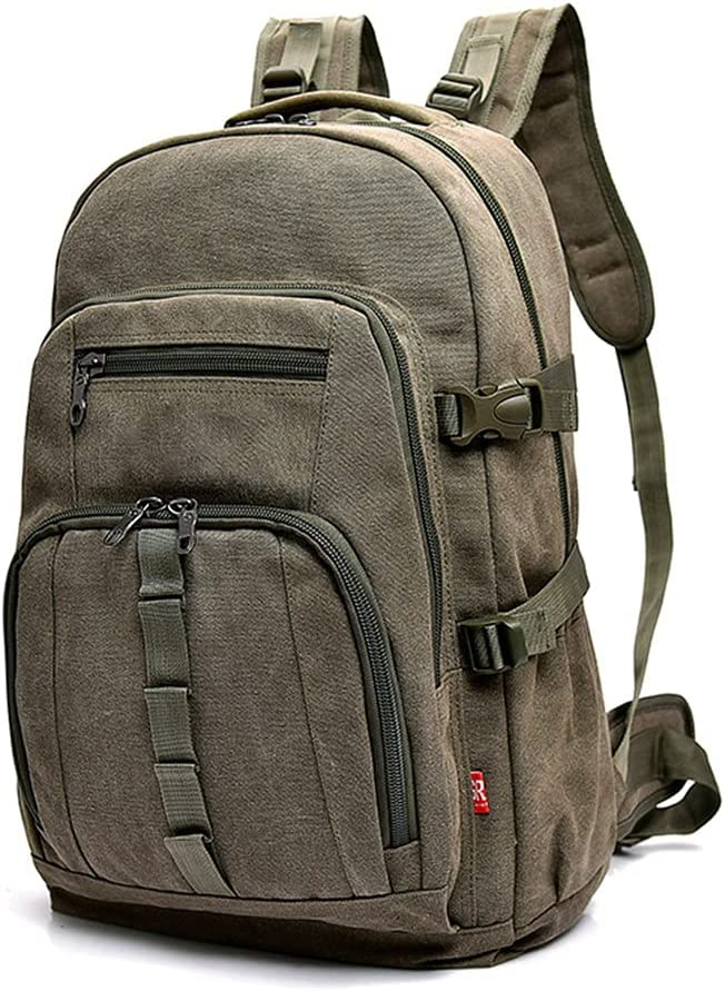PokemHent Canvas Travel Backpack Mountai Capacity Outdoor free shipping Large 55% OFF