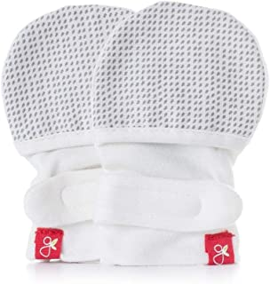 Goumikids Goumikids - Goumimitts, Scratch Free Baby Mittens, Organic Soft Stay On Unisex Mittens, Stops Scratches and Prevents Germs, Drops (Gray, 0-3 Months (Pack of 1))