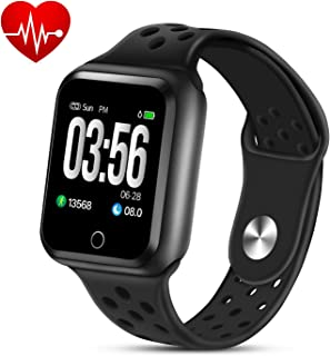 ZGPAX Fitness Tracker Watch, Activity Trackers with Heart Rate Blood Pressure Monitor, Waterproof Smart Bracelet Watch with Step Countor Sleep Monitor Calorie Counter for Kids Men Women
