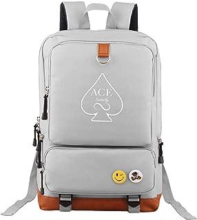 Tour Backpack White ACE Family Laptop Bag Funny Bookbag Students Daypack
