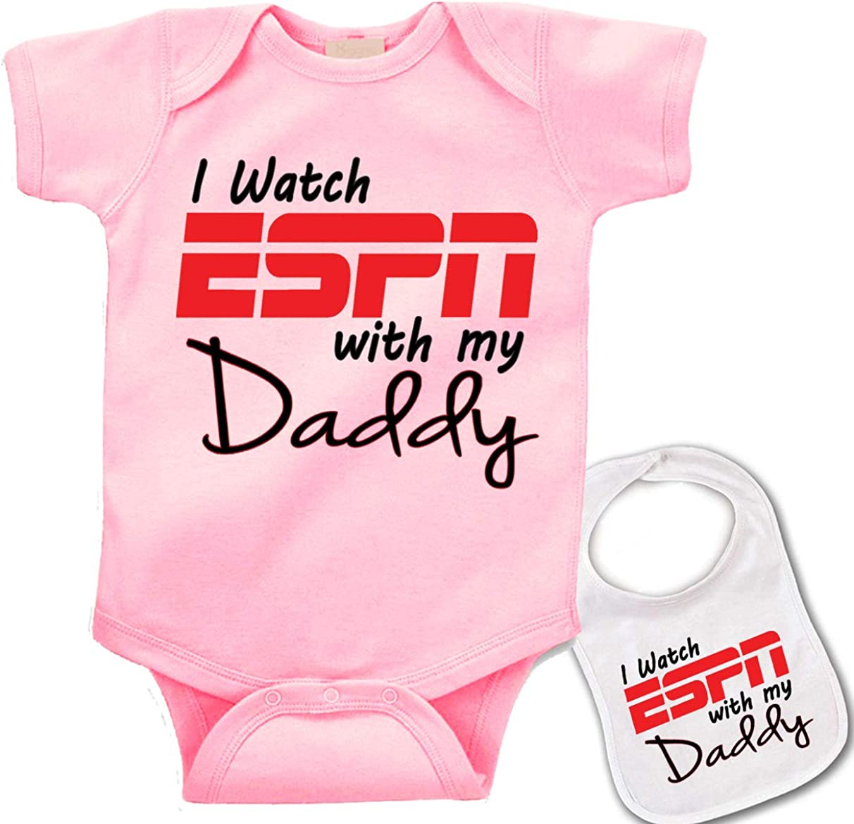 I/'m Watching The Football Game With Daddy Baby Onesie