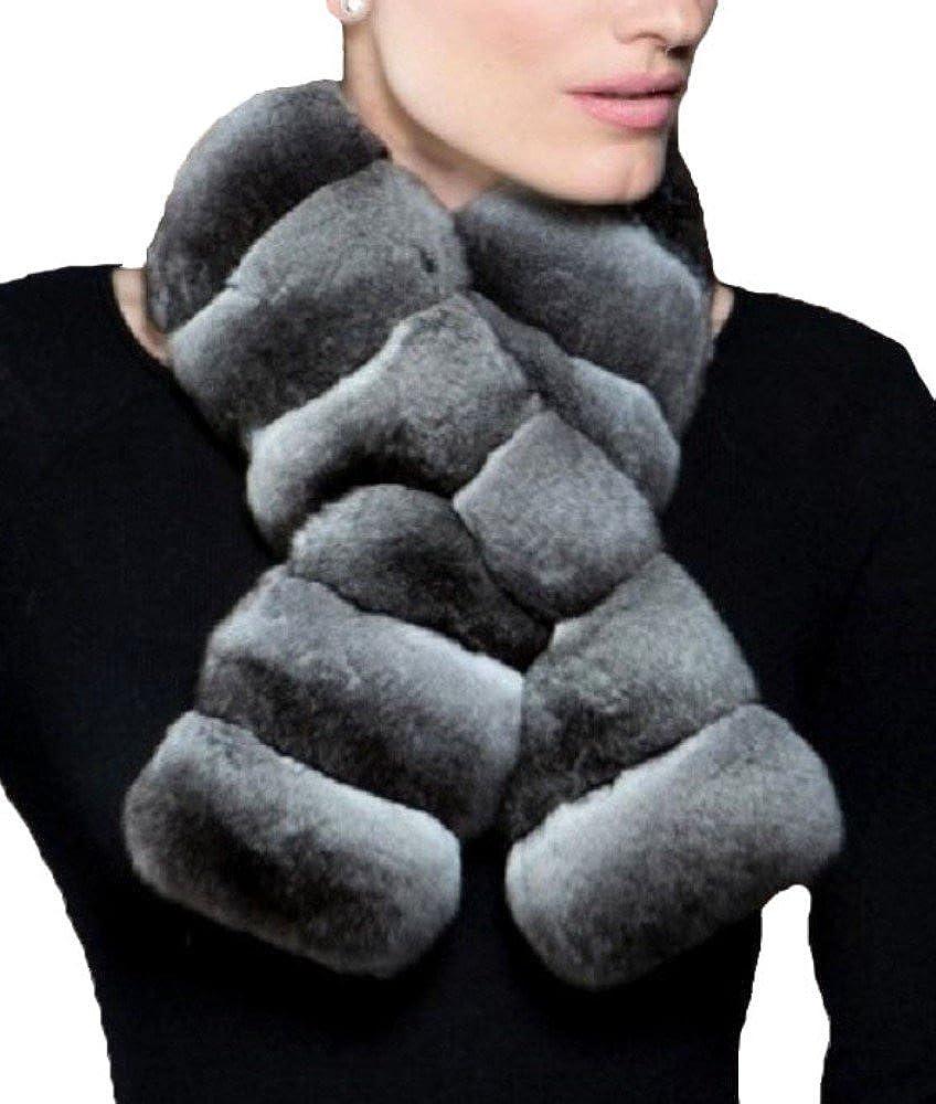 Women's New Genuine Chinchilla Fur Scarf