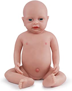Vollence 18 inch Reborn Full Silicone Baby Doll,Not Vinyl Material Dolls,Real Full Body Silicone Baby Dolls,Realistic Baby Dolls That Look Real, Handmade Lifelike Silicone Baby Doll - Girl