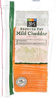 365 Everyday Value, Reduced Fat Mild Cheddar Slices, 12 oz