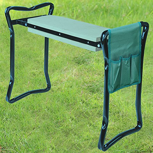 Crystals Folding 3In1 Garden Kneeler With Handles, Tools Bag [Padded...