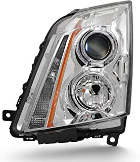 For 2008-2013 Cadillac CTS Driver Side Projector Headlight Assembly Chrome Housing Clear Lens