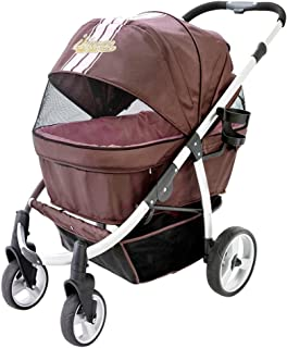 ibiyaya Double Dog Strollers for Large Dogs up to 77 Ibs, Aluminum Frame, 4-Wheel with Suspension