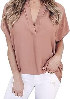 Kanzd Women Ladies Summer Chiffon Short Sleeve Casual Shirt Tops Blouse T-Shirt Tees