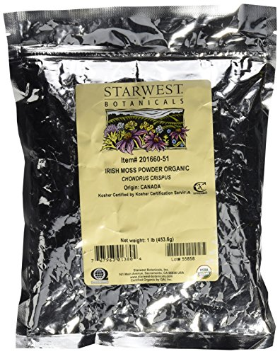 Starwest Botanicals Organic Irish Moss Powder, 1 Pound