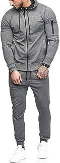 2019 Men's Jogging Tracksuit Sportswear Casual Joggers Set Hoodie Sweatshirt+Pants Sweatpants by-Leegor