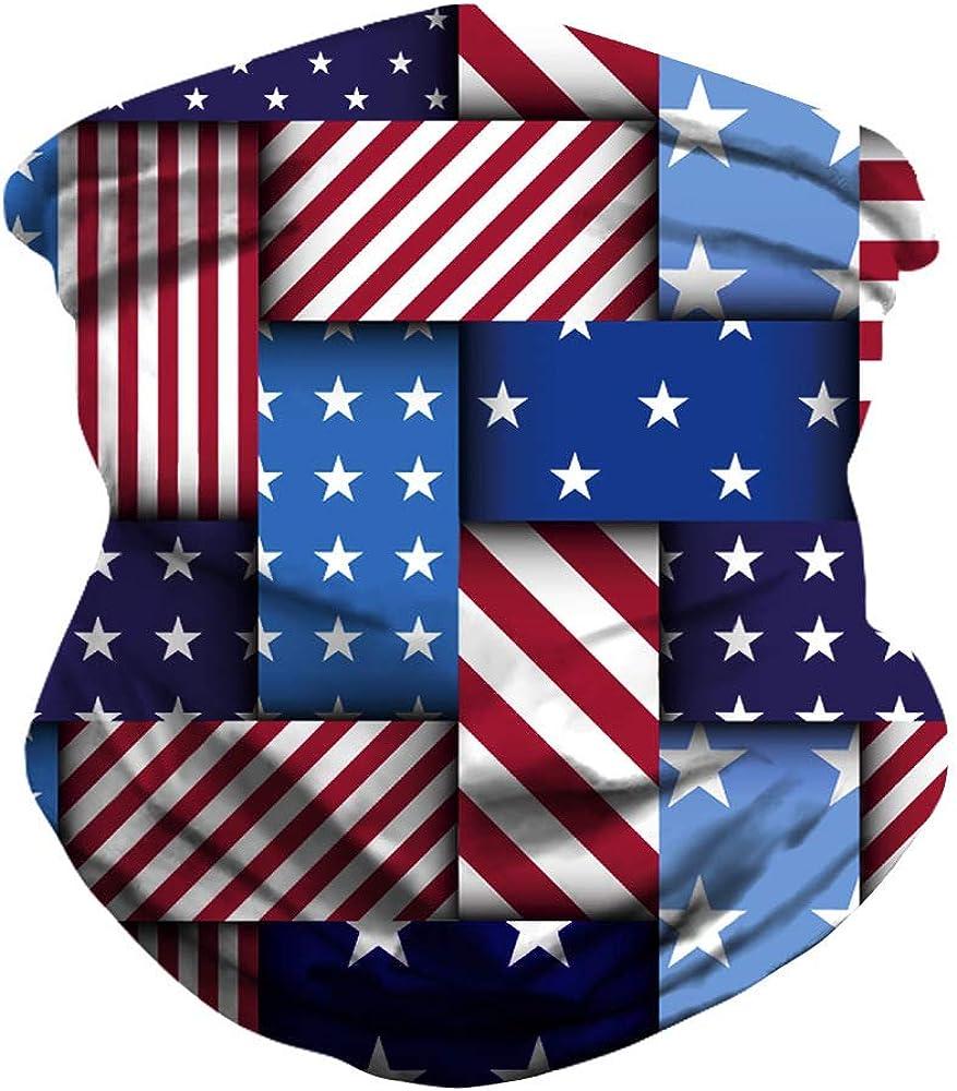 Tube Bandana Balaclava Face Mask Flag, Neck Gaiter Face Mask American Flag Balaclava Covered 19# Face Mark from Bandana