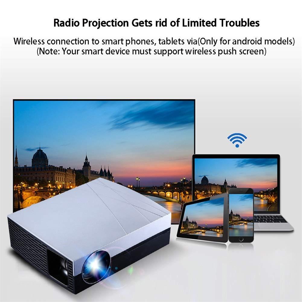 Cine en casa LED Proyectores, 4000 Lúmenes 4K AC3 1280 * 800 HD ...