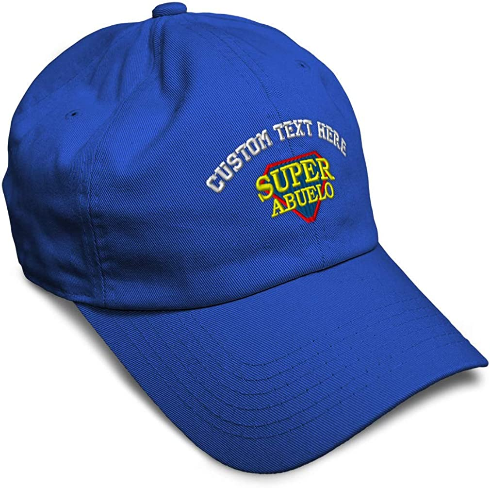 Speedy Pros Soft Baseball Cap Super Abuelo Spanish Embroidery Foreign Languages