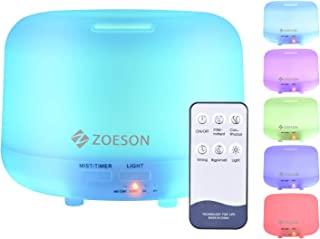 Zoeson Essential Oil Diffuser, 300ML Ultrasonic Aromatherapy Fragrant Oil Vaporizer Humidifier, Timer and Auto-Off Safety ...
