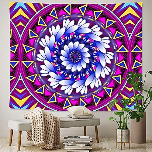 PPOU Mandala Indio de Gran tamaño Tapiz de Arte para el hogar Tela de Fondo Hippie Bohemia Manta para Colgar en la Pared Tela Colgante A3 130x150cm