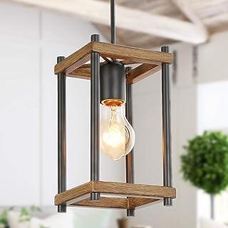 KSANA Pendant Lighting for Kitchen Island,Faux-Wood Pendant Light,Farmhouse Lighting for Dining,Foyer,Entry,Living Room