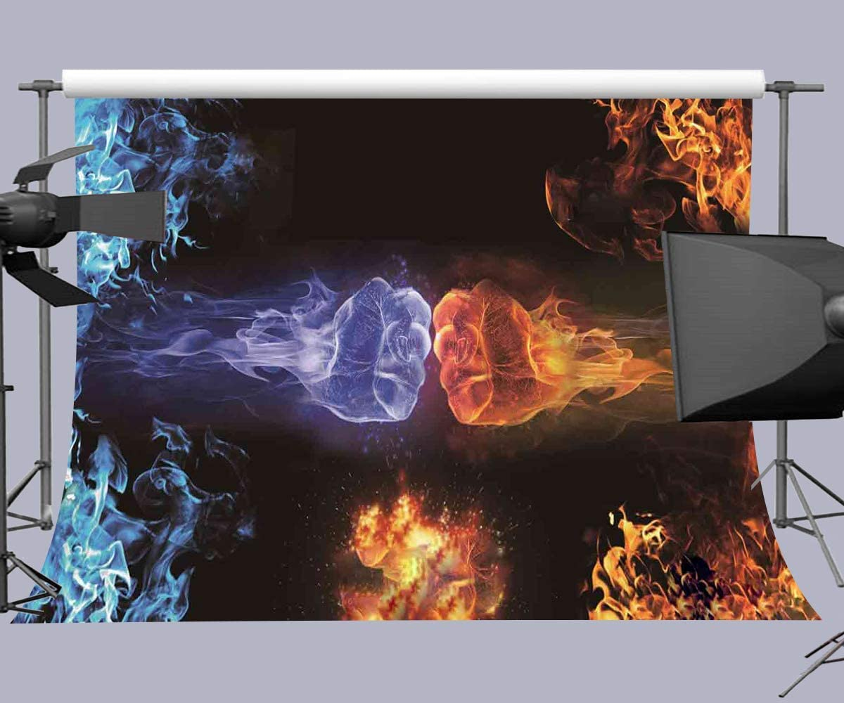 10x6.5ft Fire Fighting Poster YouTube Photo Shoot Background Photography Backdrop Photo Booth Props LHFU445