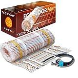 ECOFLOOR® Fußbodenheizung elektrisch 160 Watt/m² Größe wählbar 1- 12m² Fußboden-Heizmatte...