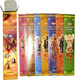 Seven Archangels (Siete Arcangels) - 35 Gram Box, 7 Difference Incense - HEM Incense Imported from India