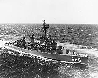 Home Comforts The U.S. Navy Destroyer USS Black (DD-666) Steaming at sea, Circa 1968. Vivid Imagery Laminated Poster Print 24 x 36