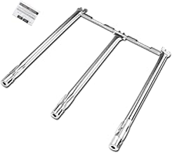 QuliMetal 69787 18 Inches Grill Burner for Weber Spirit 300 Series, Burner Tube Set for Spirit E310 S310 E320 S320 E330 S330 SP-330 (2013 and Newer) Grills with up-Front Control, 304 Stainless Steel
