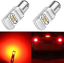 Alla Lighting 3800lm Xtreme Super Bright BAY15D 1157 LED Bulbs High Power ETI 56-SMD LED 1157 Bulbs 7528 2057 2357 LED Turn Signal Brake Stop Tail Light (Set of 2)