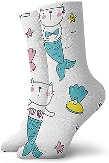iuitt7rtree Calcetines Deportivos para Correr Cat Mermaid One Athletic