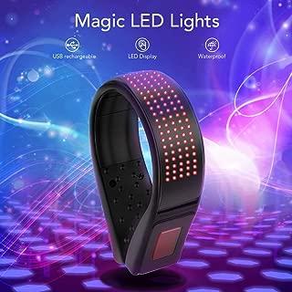 Cool Magic LED Lights, Festival Sport Shoe Flash Clip Light, USB Charging, 11 Colors Flashing Modes, Reflective Safety Warning for Dancing Night Running Jogging Walking Biking, Red