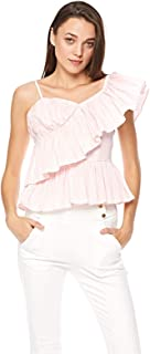 2Xtremz One Shoulder Pleated Top for Women