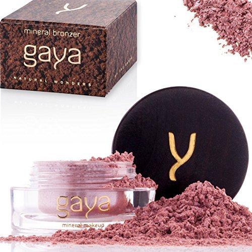 Gaya Cosmetics Bronzer Puder Highlighter - Veganes Gesichtspuder Makeup Contour Shimmer Powder für alle Hauttypen (MB5 Shade)