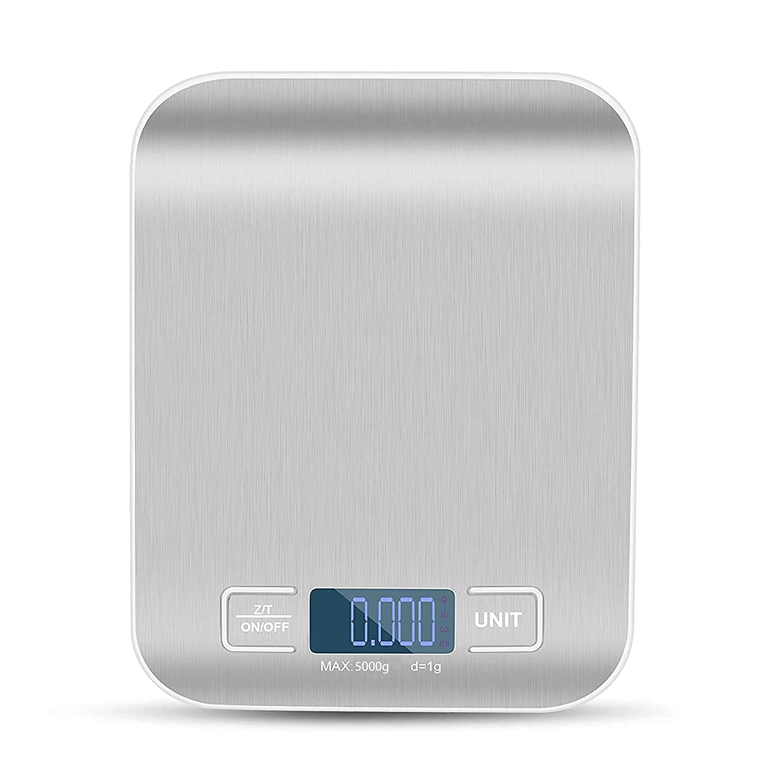 Ccfetch Kitchen Digital Scale Weight, Precision Food Scale 11lb/5kg, Scale for Food Grams and Ounces, Dietary Balance, Weight Loss, Baking, Cooking (Batteries Included)
