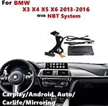 Upgrade Carplay Android Auto Multimedia System Compatible for BMW X3 X4 X5 X6 2013-21016 with NBT System, Support AirPlay Handfree Call, Goolge GPS, Mirrorlink,Reverse Track