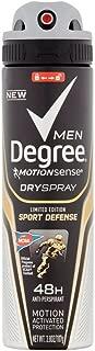 Degree Men Motion Sense Spray Antiperspirant, Sport Defense 3.8 oz (Pack of 2)