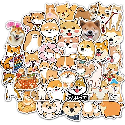 HUIJIA Waterproof PVC Animal Dog Sticker Suitcase Guitar Skateboard Girl Funny Decal Graffiti Sticker Kids Classic Toy 50pcs