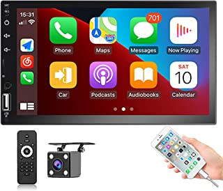 $73 » Hikity Double Din Car Stereo with Carplay Radio 7 Inch Touchscreen Headunit Bluetooth FM Receiver Support Mirror Link SWC...