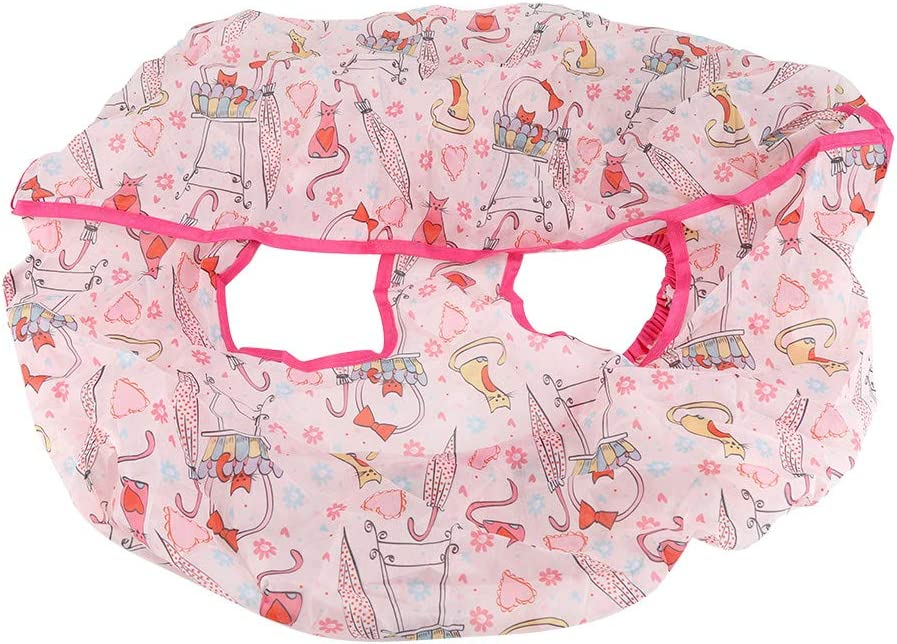 TOPINCN Folding Shopping Cart Covers for Baby Children Polyester Anti Dirty Kids Trolley Seat Chair Cover 1 PC(Pink)
