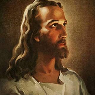 Diy Oil Painting Paint by Number Kit for Adult Kids, Painted Religious Jesus,16X20 Inch