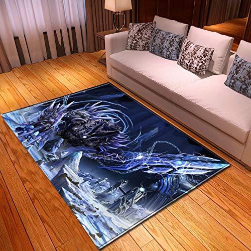 LGXINGLIyidian Casa Alfombra Serie De Calaveras De Muerte De Terror Creativo Alfombra Suave Antideslizante De Decoración del Hogar De Impresión 3D T-212K 100X150Cm