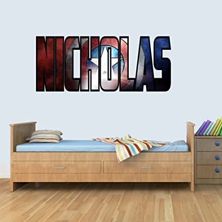 Marvel Super Heroes PERSONALIZED NAME Decal Removable WALL STICKER Avengers WP75